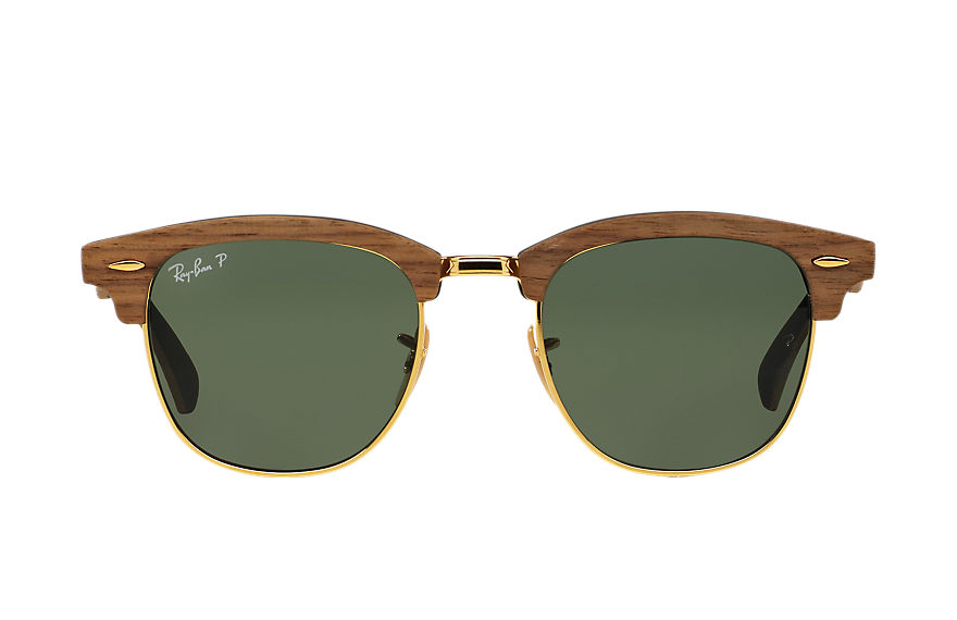 Ray-Ban  occhiali da sole RB3016M UNISEX 004 clubmaster wood marrone 8053672416060