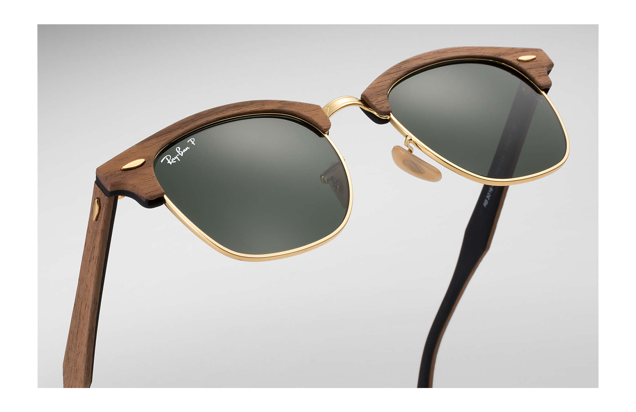 2346983611 Rayban Rb3016m Clubmaster Wood Polarized - Bitterroot Public Library