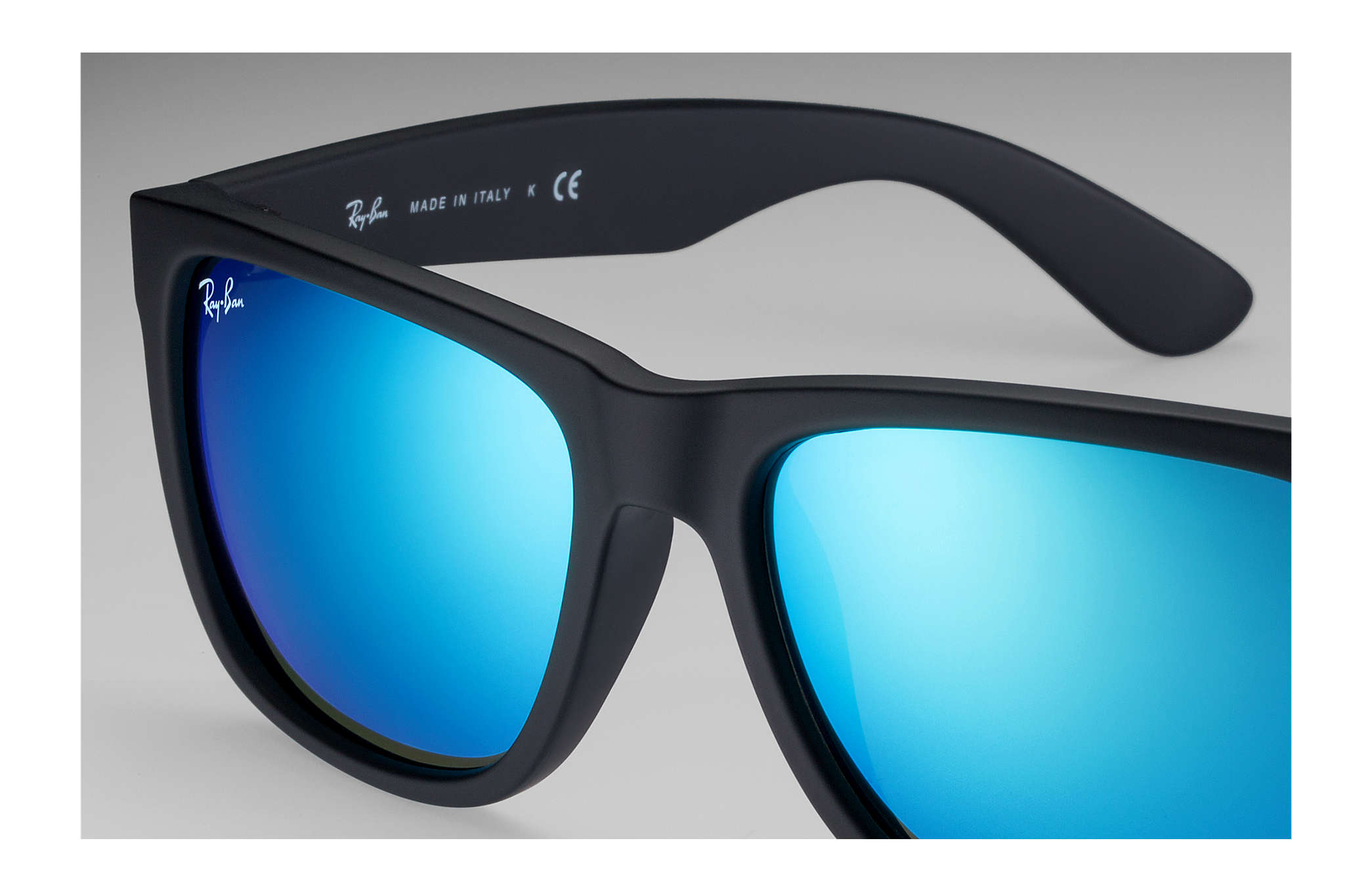 ac6eacafd26778 Ray-Ban Justin Color Mix RB4165 Black - Nylon - Blue Lenses ...