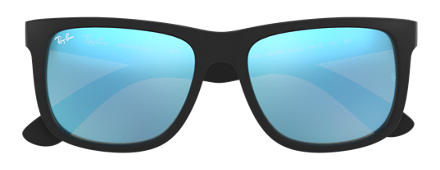 Ray-Ban JUSTIN COLOR MIX Black with Blue Mirror lens