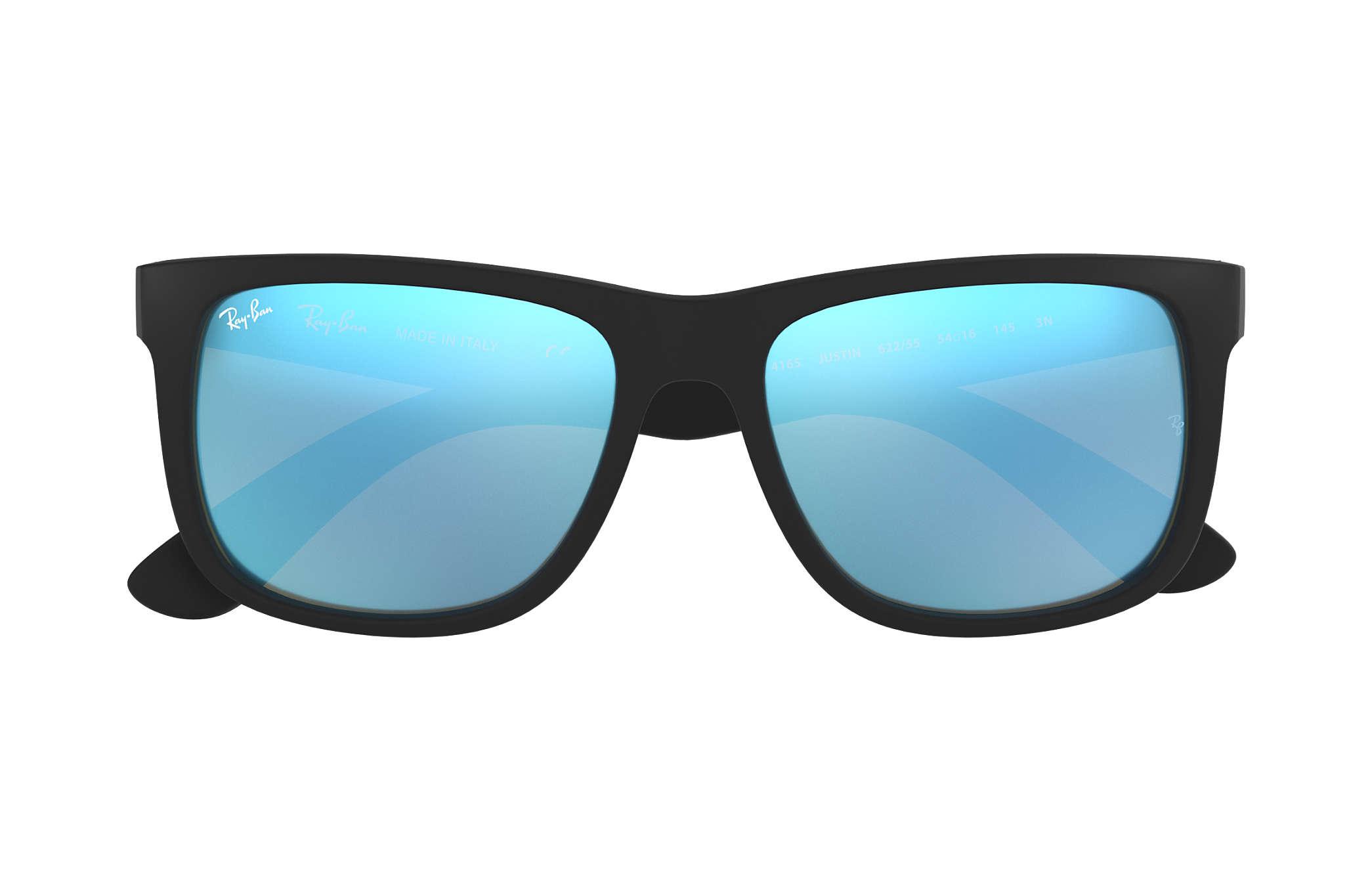 df8e65efd81 Ray-Ban Justin Color Mix RB4165 Black - Nylon - Blue Lenses ...