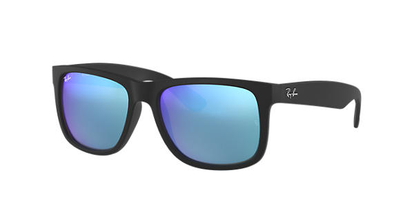 38986ffb3d3b Ray-Ban Justin Color Mix RB4165 Black - Nylon - Blue Lenses -  0RB4165622 5555