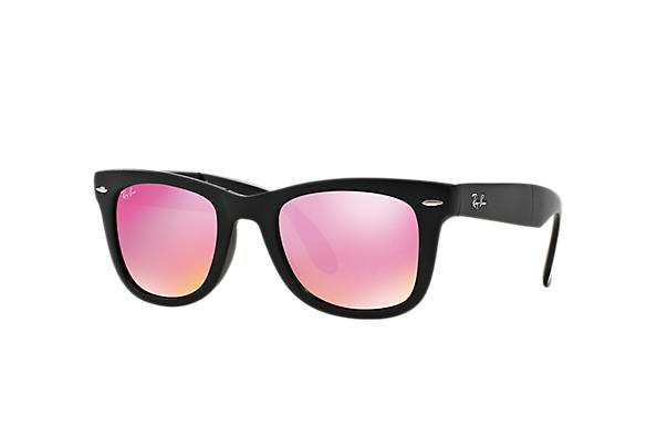 Ray-Ban 0RB4105-WAYFARER FOLDING FLASH LENSES Black SUN