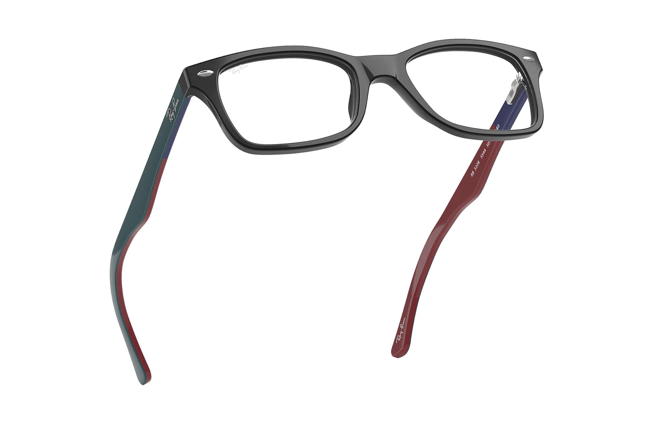 Óculos de grau Ray-Ban RB5228 Preto - Acetato - 0RX5228554450  d0914631f1b2e