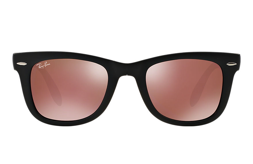 Ray-Ban  sunglasses RB4105 UNISEX 014 wayfarer folding flash lenses black 8053672430561