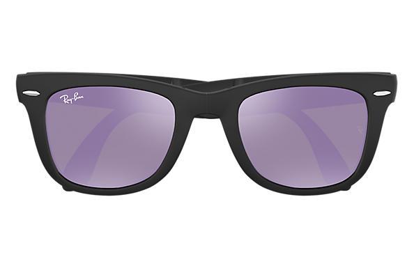 Ray Ban Wayfarer Folding Flash Lenses Rb4105 Black Nylon Lilac