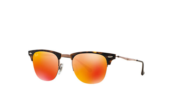 Ray-Ban 0RB8056-CLUBMASTER LIGHT RAY Havana; Braun SUN
