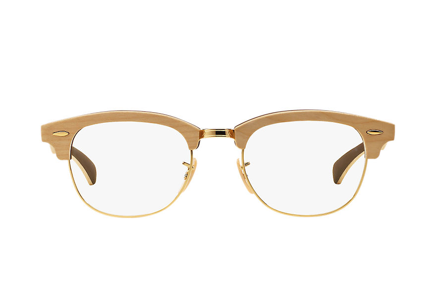 Ray-Ban Lunettes-de-vue Clubmaster Wood Optics Marron