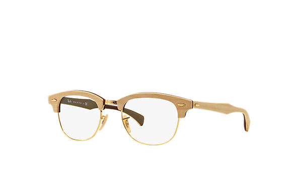 f6c64c88fb6ad Óculos de grau Ray-Ban Clubmaster Wood Optics RB5154M Marrom ...