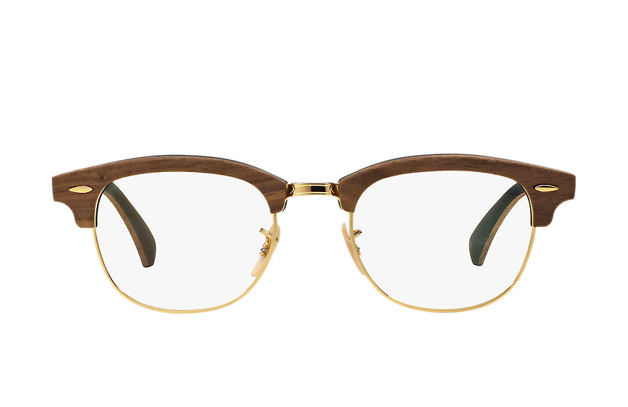 Ray-Ban  lunettes de vue RX5154M UNISEX 003 clubmaster wood optics brown 8053672430714