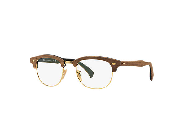 Ray-Ban 0RX5154M-Clubmaster Wood Optics Brown OPTICAL