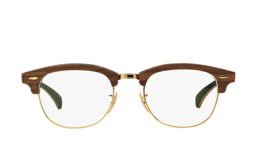 Ray-Ban  lunettes de vue RX5154M UNISEX 004 clubmaster wood optics brown 8053672430721