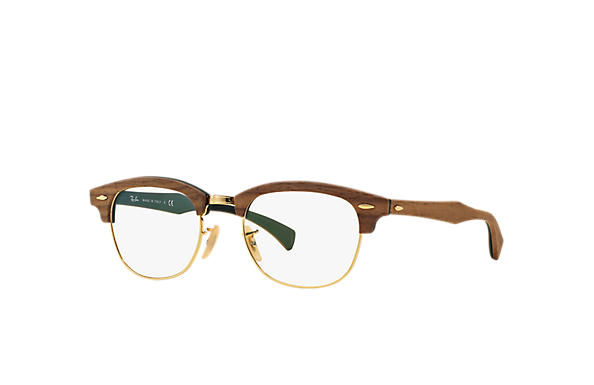 Ray-Ban Lunettes-de-vue Clubmaster Wood Optics Brown
