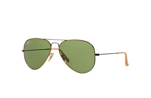 Ray-Ban 0RB3025-AVIATOR DISTRESSED Gold SUN
