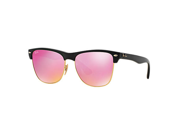 9ee67f680a Ray-Ban Clubmaster Oversized Flash Lenses RB4175 Black - Nylon ...