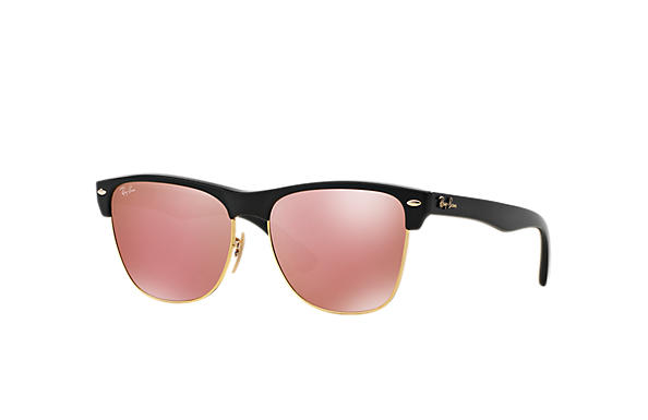 Ray-Ban 0RB4175-CLUBMASTER OVERSIZED FLASH LENSES 黑色 SUN