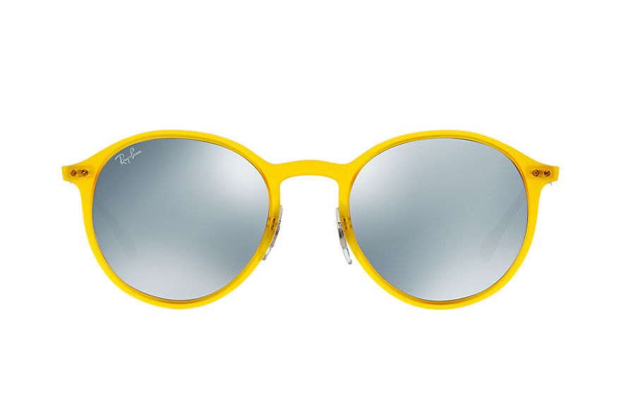 Ray-Ban ROUND LIGHT RAY Yellow with Silver Mirror lens