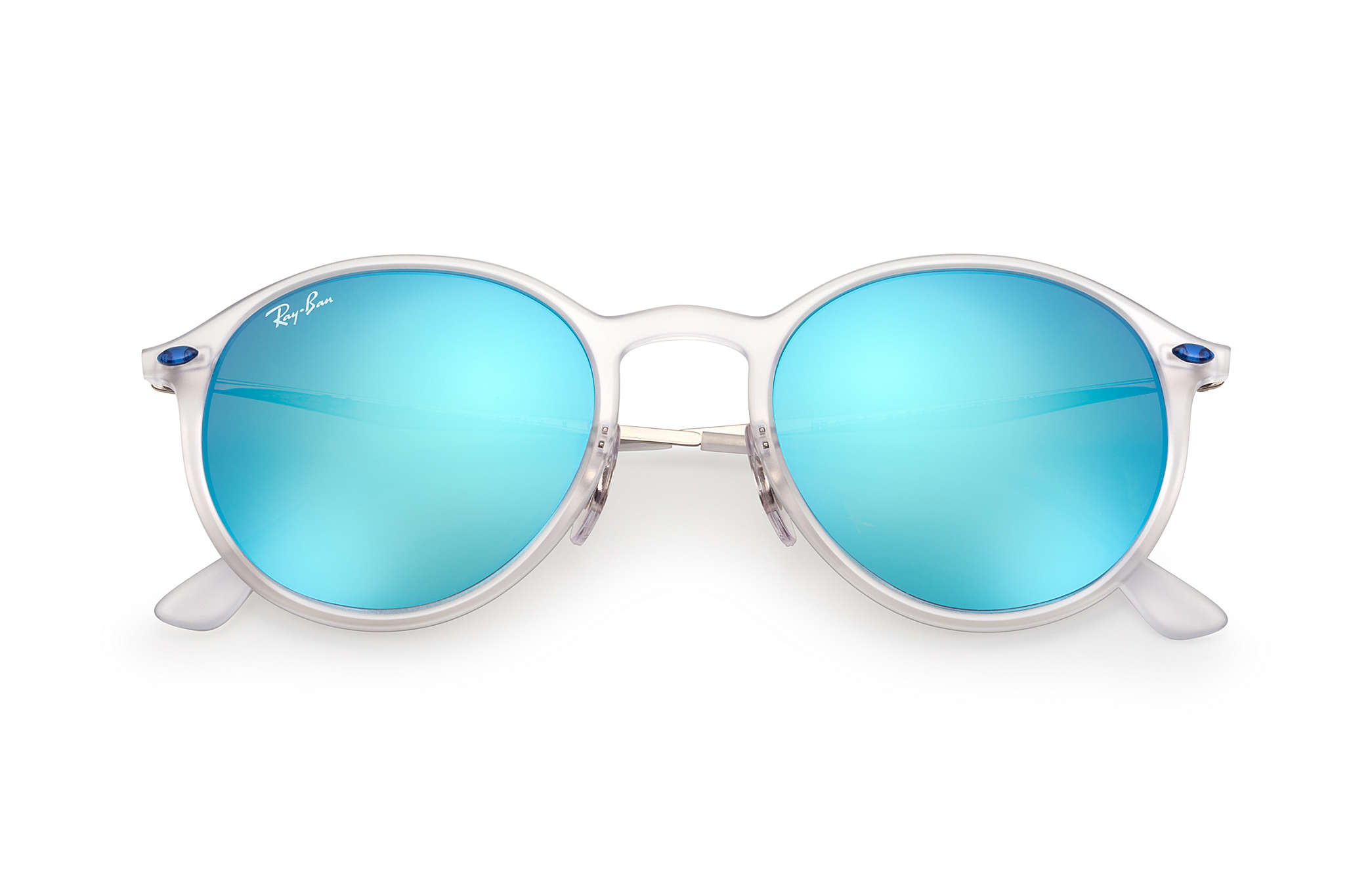 Ray-Ban Round Light Ray Transparent Silver, RB4224 | Ray-Ban® USA