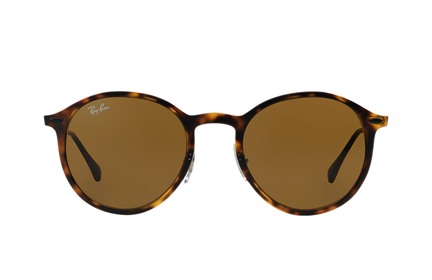 Ray-Ban ROUND LIGHT RAY Tortoise with Brown Classic B-15 lens