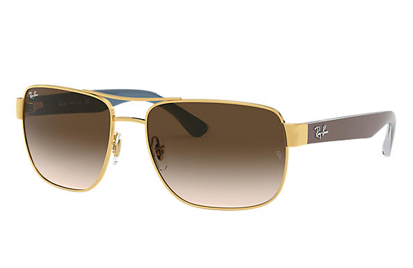 Ray-Ban Sunglasses RB3530 Gold with Brown Gradient lens