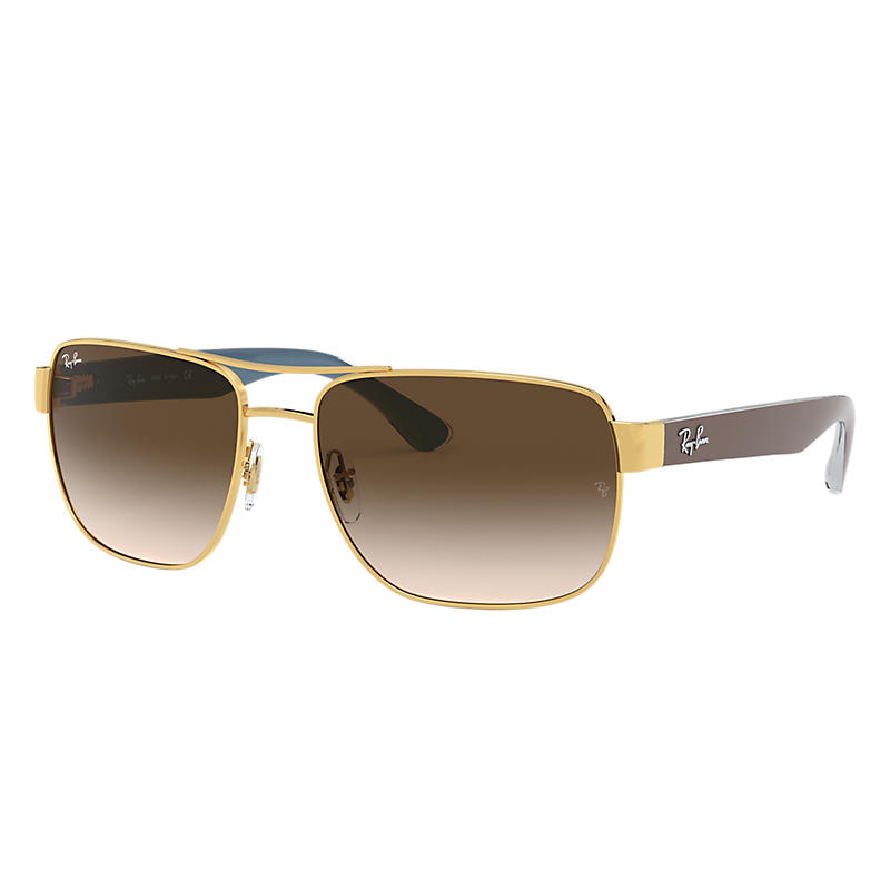 Ray Ban Rb3530 Homme Sunglasses Verres: Marron, Monture: Marron - RB3530 001/13 58-17