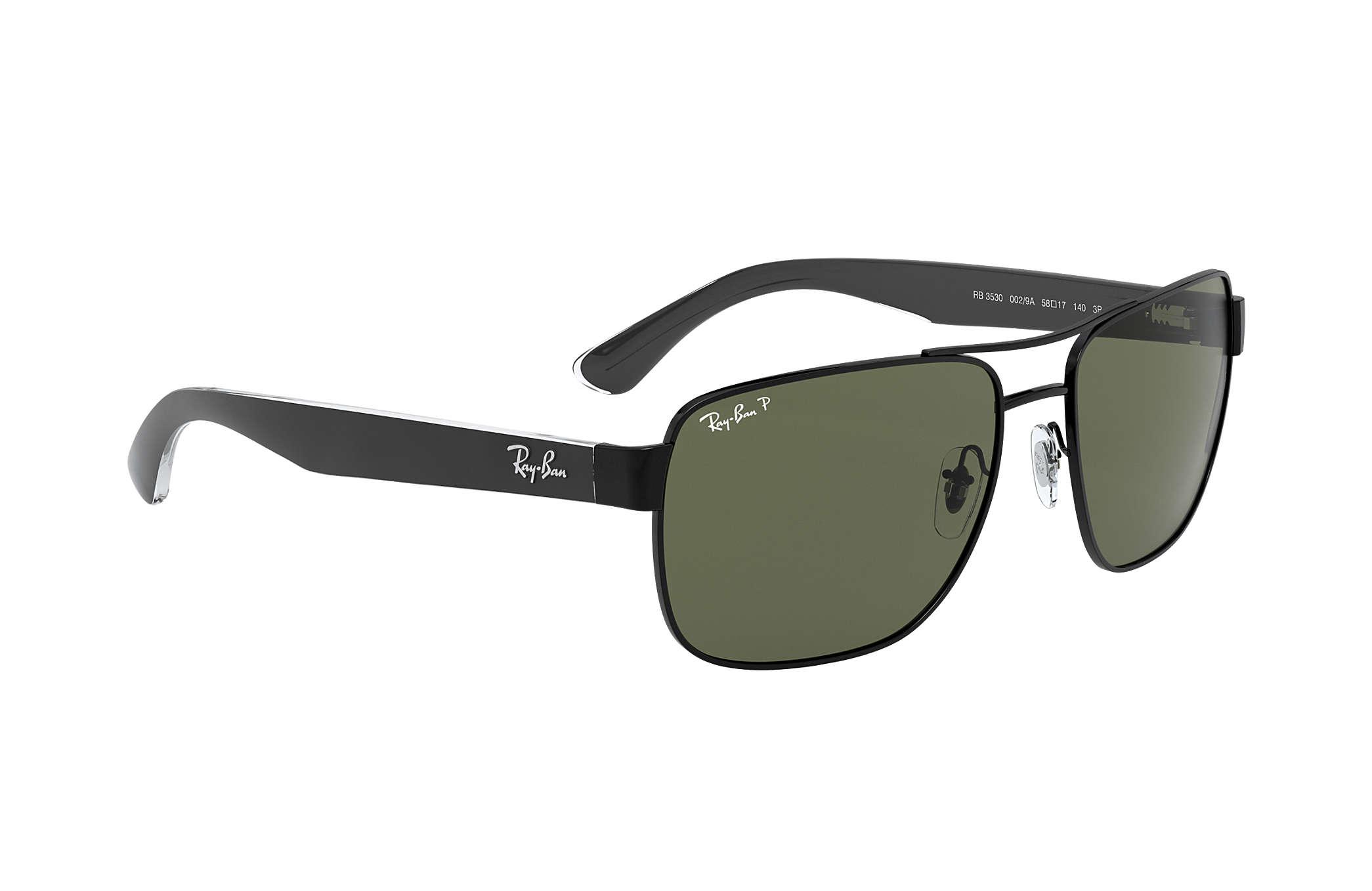 a2c7e3b3d573a Ray-Ban RB3530 Black - Metal - Green Polarized Lenses - 0RB3530002 ...