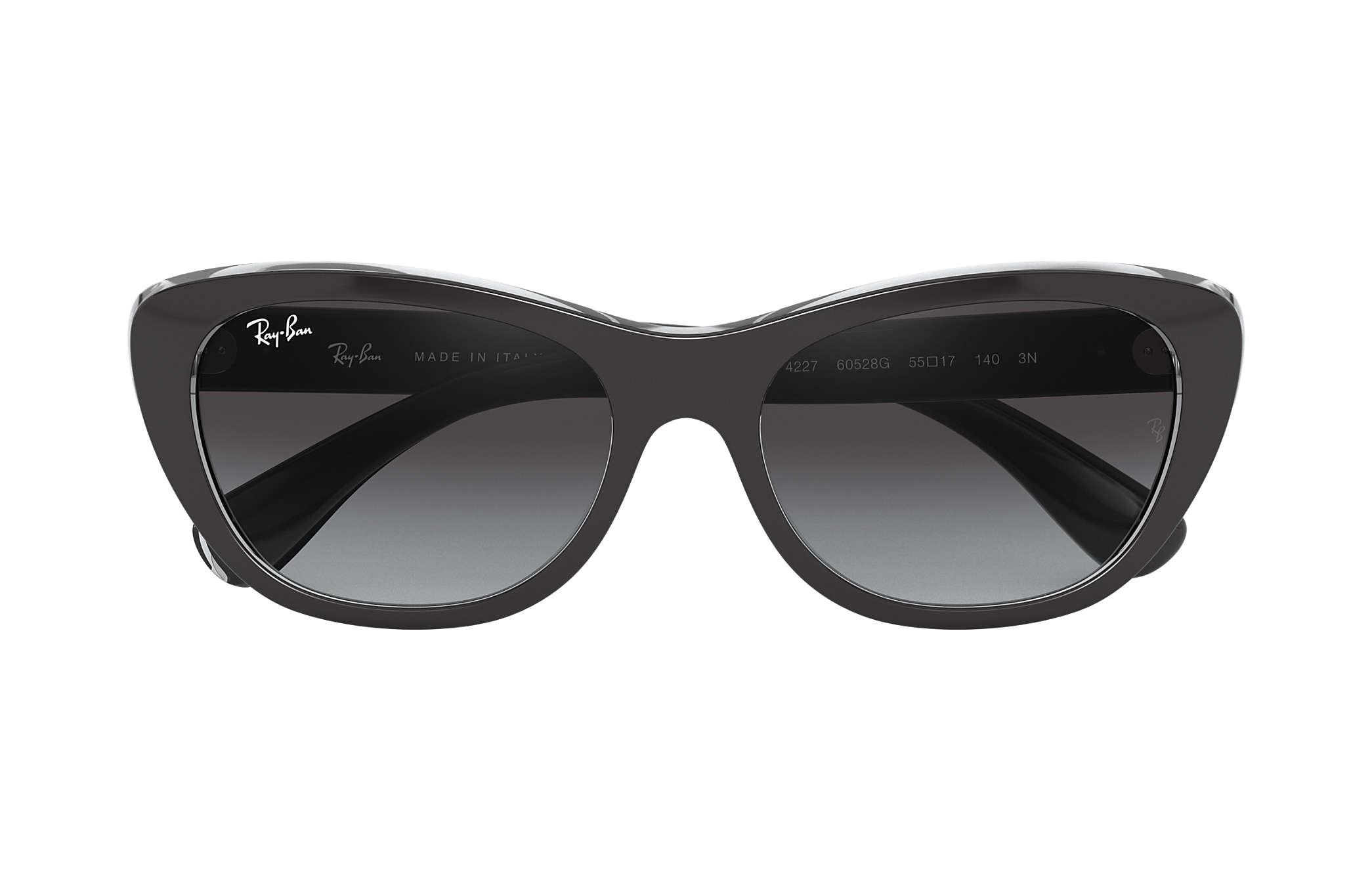 fedadff2c42db Ray-Ban RB4227 Black - Nylon - Grey Lenses - 0RB422760528G55