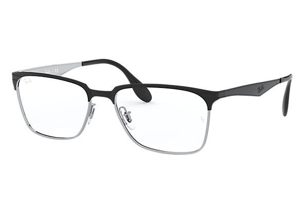Ray-Ban 0RX6344-RB6344 Black,Silver OPTICAL
