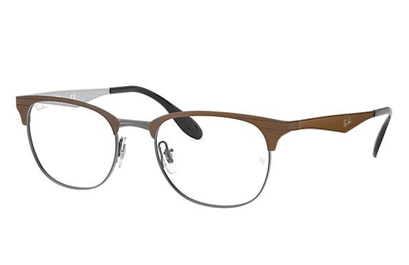 1d253723c7 Ray-Ban prescription glasses RB6346 Brown - Metal - 0RX6346286252 ...