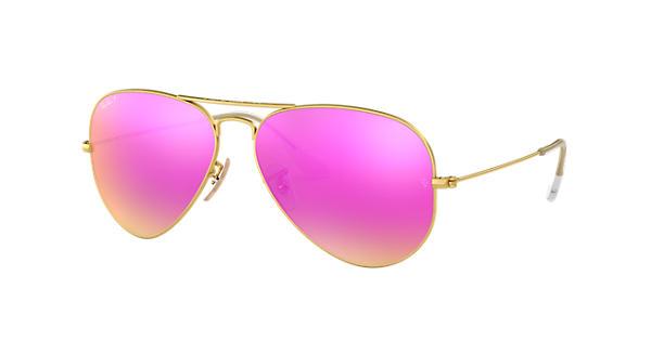 Ray ban aviator flash lenses gold polarized lenses for Miroir rose gold