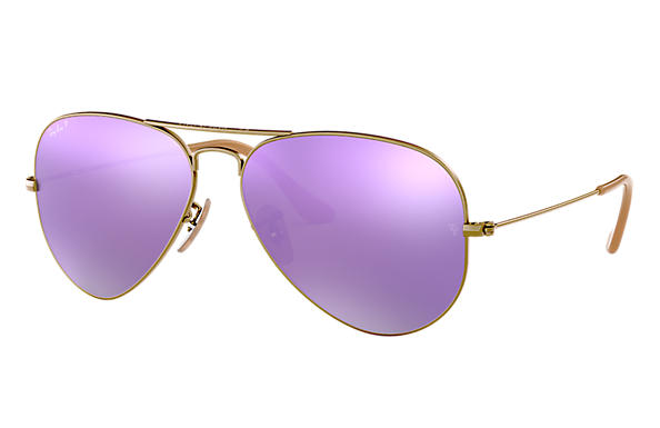 Ray-Ban 0RB3025-AVIATOR FLASH LENSES Bronze-Copper SUN