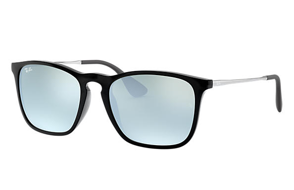 b5799cd11c8 Ray-Ban Chris RB4187 Black - Nylon - Silver Lenses - 0RB4187601 3054 ...