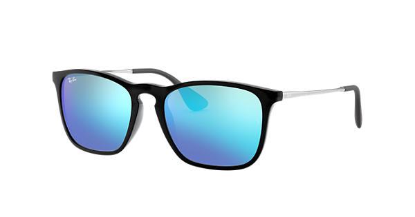 ada4c4d042b60 Ray-Ban Chris RB4187 Black - Nylon - Blue Lenses - 0RB4187601 5554   Ray-Ban®  Portugal