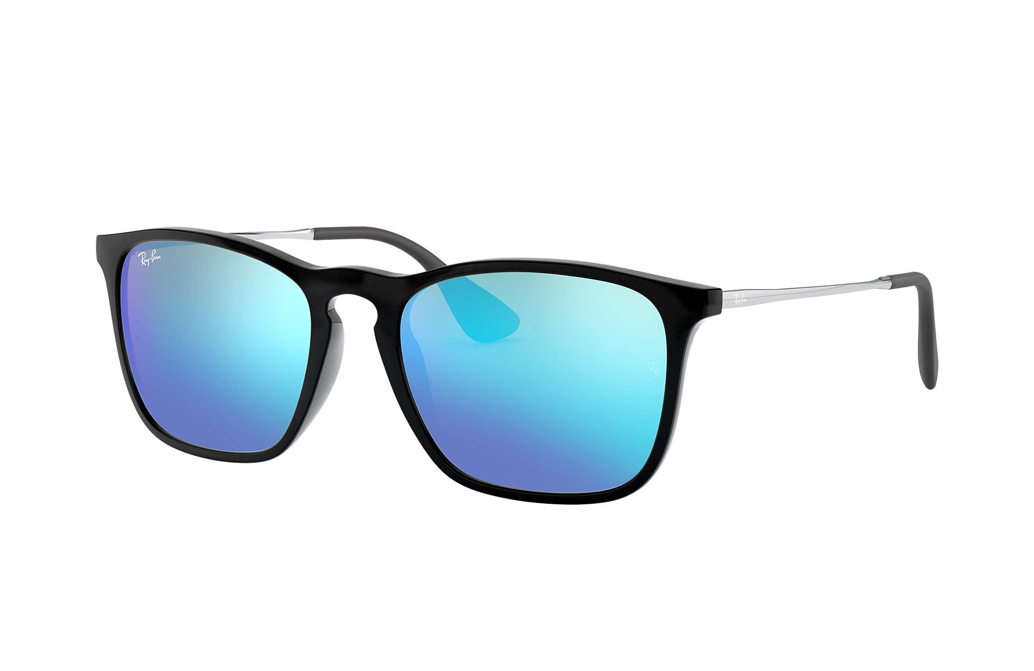 Sonnenbrille Chris Schwarz Gunmetal Silber verspiegelt pbpy696eY