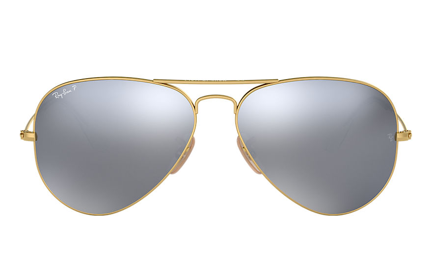 Ray-Ban  sonnenbrillen RB3025 UNISEX 064 aviator flash lenses gold 8053672466058