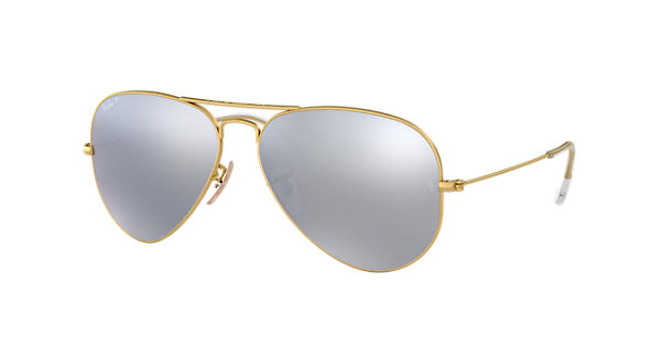 191197dcb95dc Ray-Ban Aviator Flash Lenses RB3025 Gold - Metal - Silver Polarized Lenses  - 0RB3025112 W358