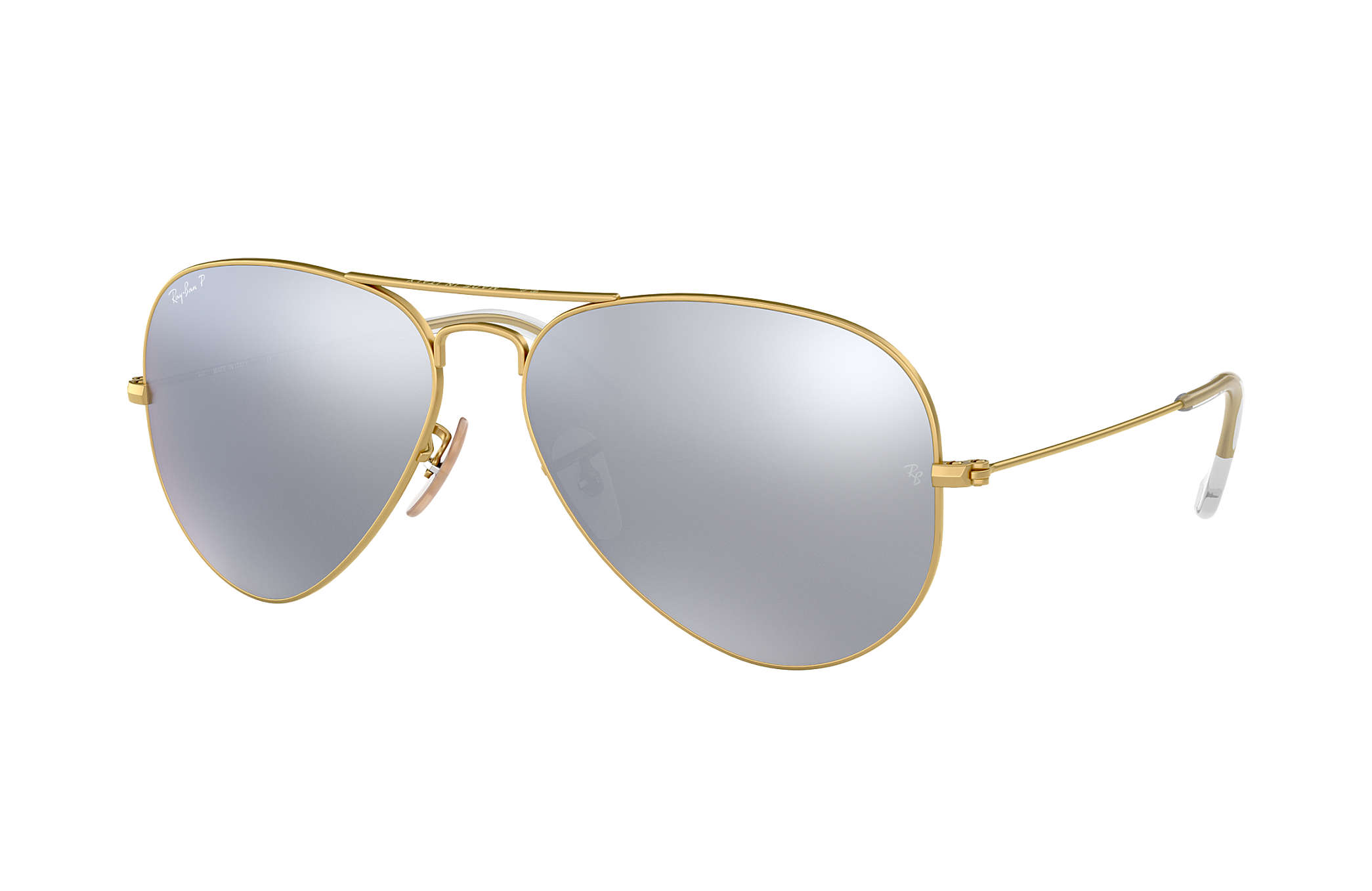 ab62ad89cd8aa Ray-Ban Aviator Flash Lenses RB3025 Gold - Metal - Silver Polarized ...
