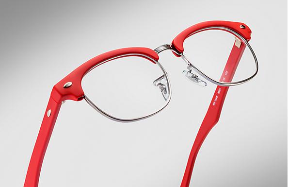03bd31fdda Ray-Ban eyeglasses Clubmaster Junior Optics RY1548 Red - Nylon ...