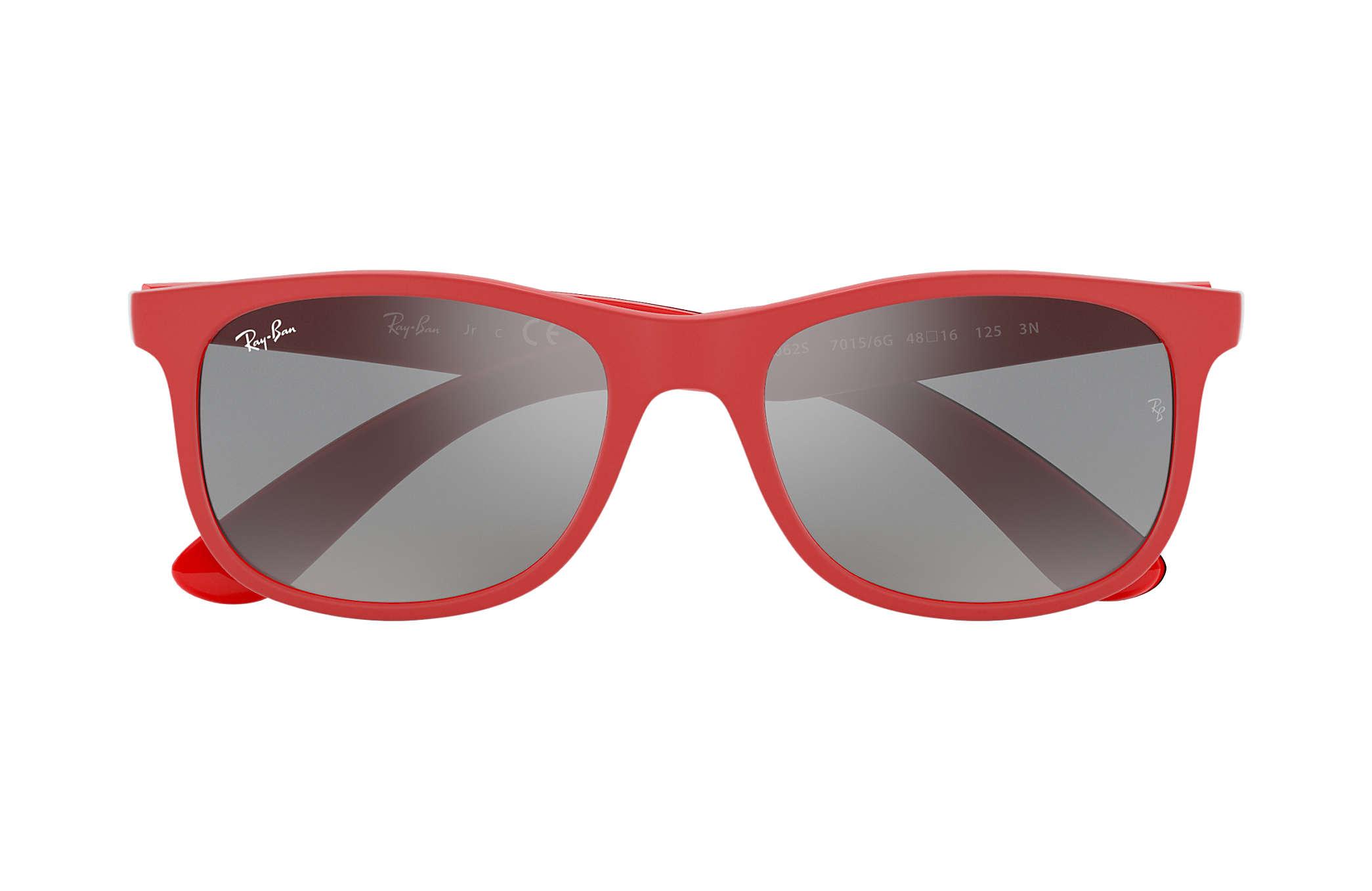 Ray Ban RB9062S Red Nylon Grey Lenses 0RJ9062S70156G48