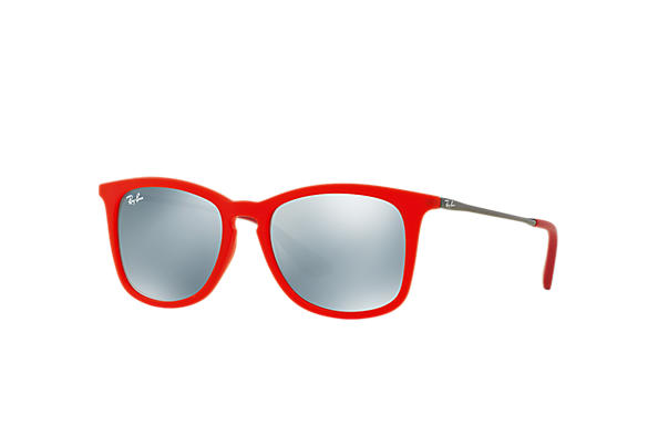 Ray-Ban Sunglasses RJ9063S Red with Silver Mirror lens