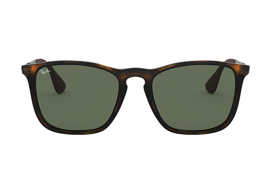 Ray-Ban CHRIS Tortoise with Green Classic lens