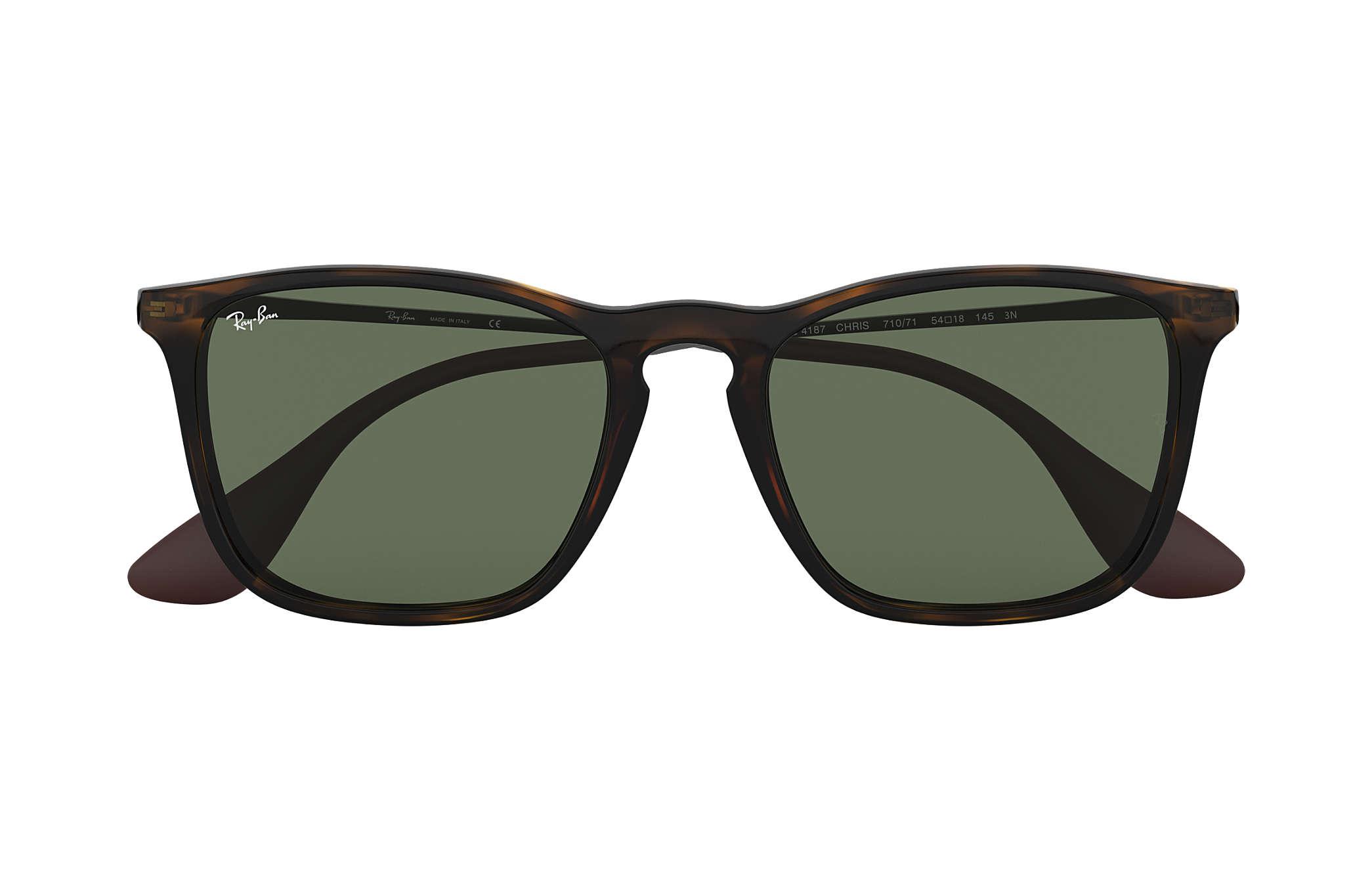 81a1ca24f8 Ray-Ban Chris RB4187 Tortoise - Nylon - Green Lenses - 0RB4187710 ...