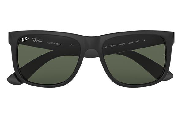 Ray Ban Justin Classic RB4165 Czarne błyszczące Nylon