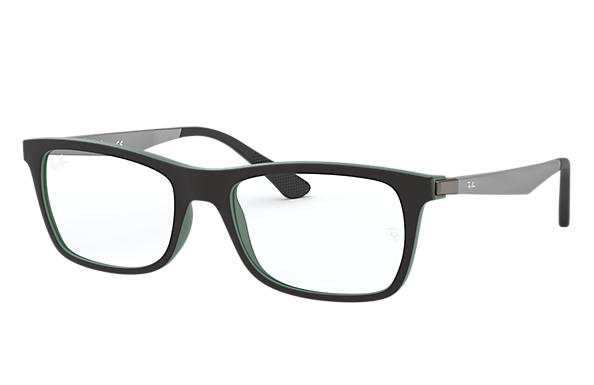 Ray-Ban 0RX7062-RB7062 Nero,Verde; Canna di fucile OPTICAL