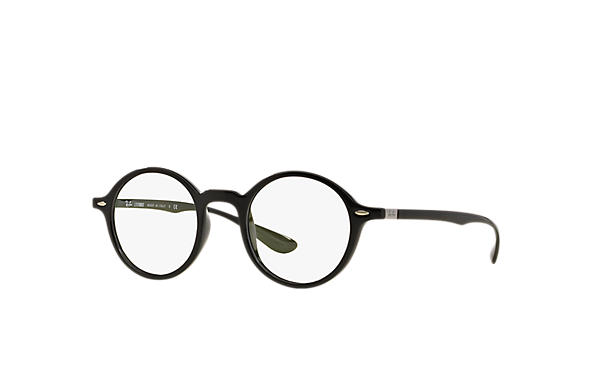 레이밴 Eyeglasses ROUND LITEFORCE 블랙