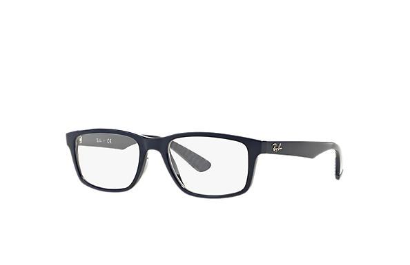 1f4e577048 Ray-Ban prescription glasses RB7063 Blue - Injected - 0RX7063541954 ...
