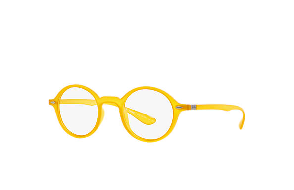 cef2a31b76 Ray-Ban prescription glasses Round Liteforce Optics RB7069 Yellow ...