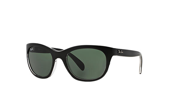 ecdee01cac Ray-Ban RB4216 Black - Nylon - Green Lenses - 0RB421660527156