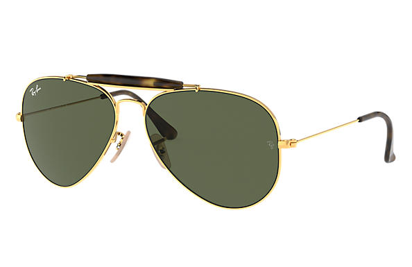 6c15947a2 Ray-Ban Outdoorsman Havana Collection RB3029 Gold - Metal - Green ...