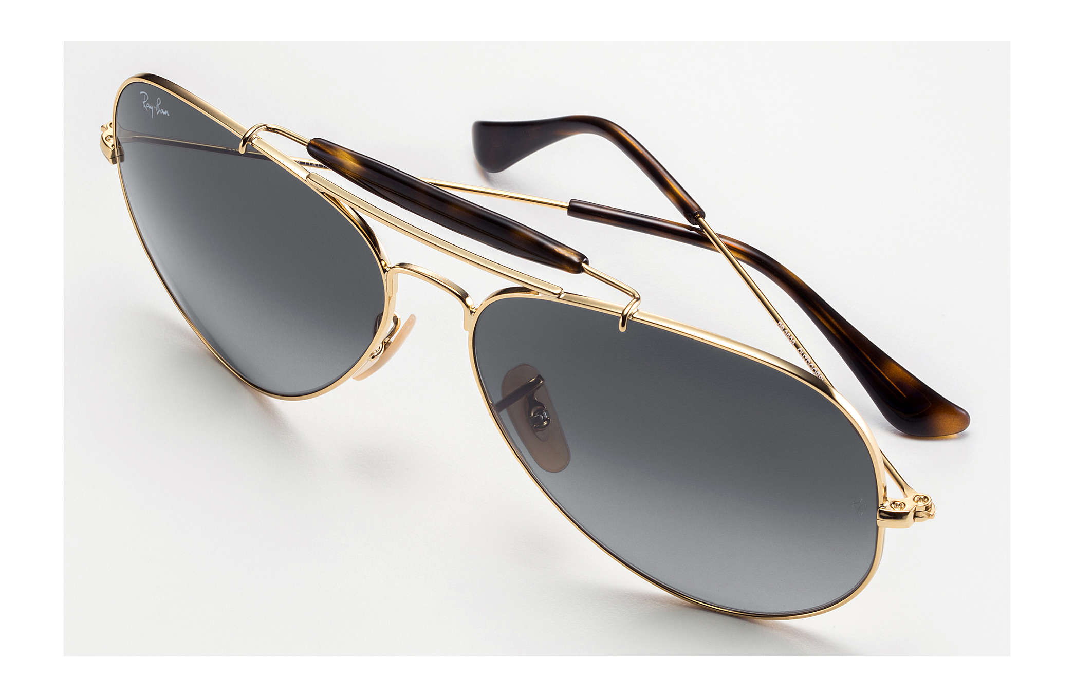 633232f6e Ray-Ban Outdoorsman Havana Collection RB3029 Gold - Metal - Grey ...